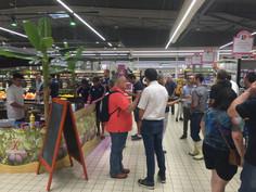 Dégustation de produits Roucadil au Centre Leclerc de Castelculier