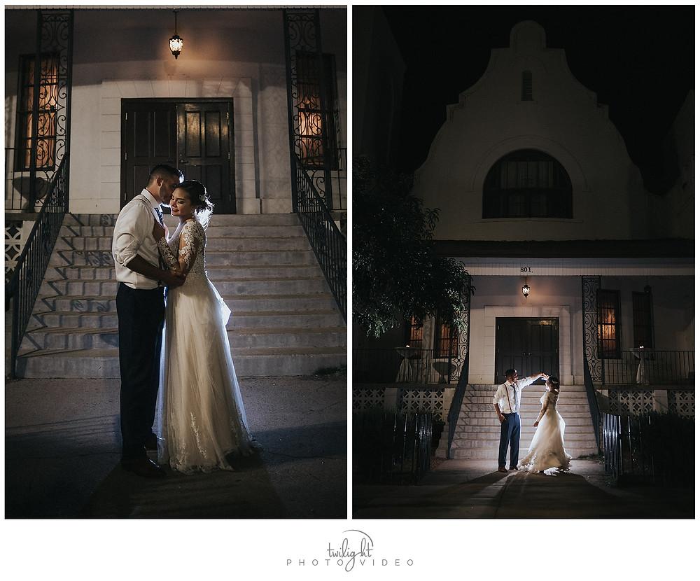 Bride and Groom Magoffin Hall-El Paso Wedding Photography