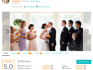 5/5 Stars on WeddingWire: Allentown Wedding Photographers