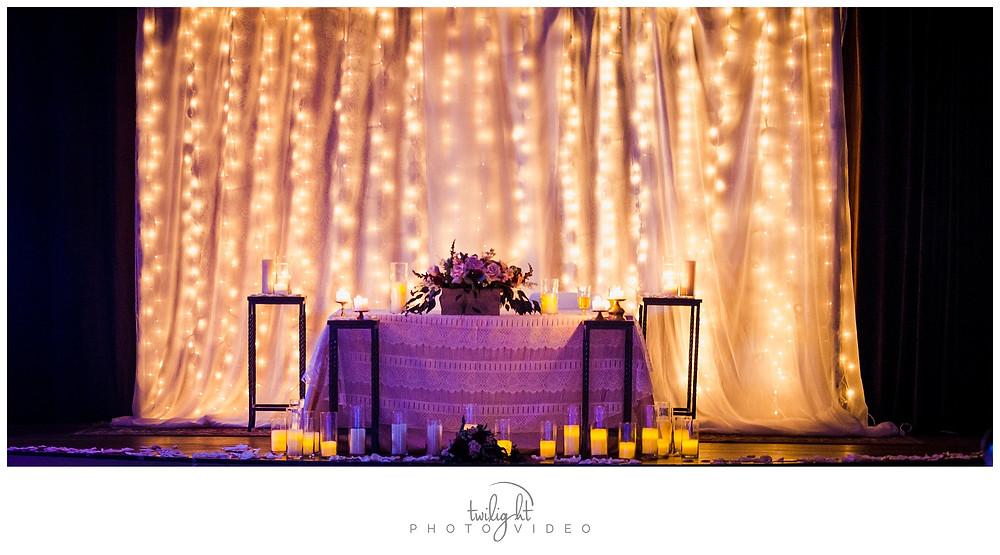 Reception Table Magoffin Hall-El Paso Wedding Photography