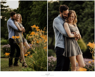 Engagement Photo Session, Rose Garden in Allentown PA { Delaney & Todd}