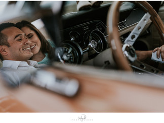 Maternity Photography - Classic Car Theme {Karen + Joe}