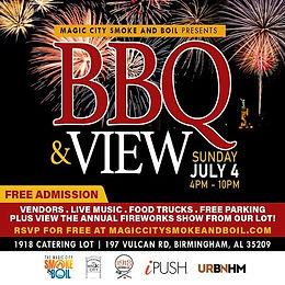 Magic City Smoke and Boil Presents BBQ & View