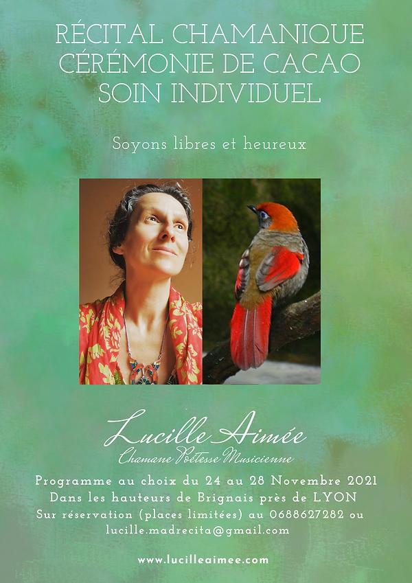 Venue Lyon Lucille aimée chamane poetesse Musicienne