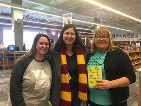 Mindy McGinnis! In our library!