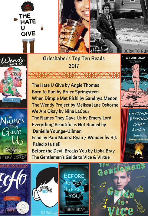 Grieshaber's 2017 Top 10