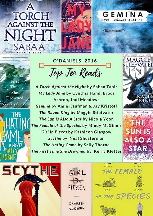 O'Daniels' 2016 Top 10