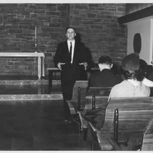 Christ Church, Greenwich ca. 1960, one of thousands of talks on music & worship.