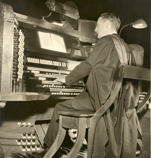 At the console, Cathedral of St. John the Divine early 1960's