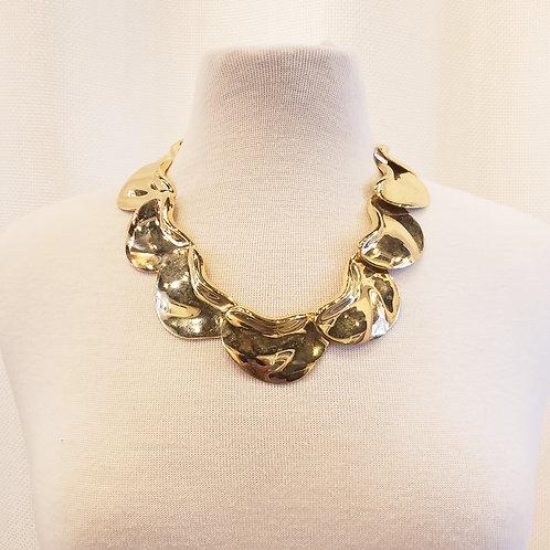 Vintage Gold Statement Necklace