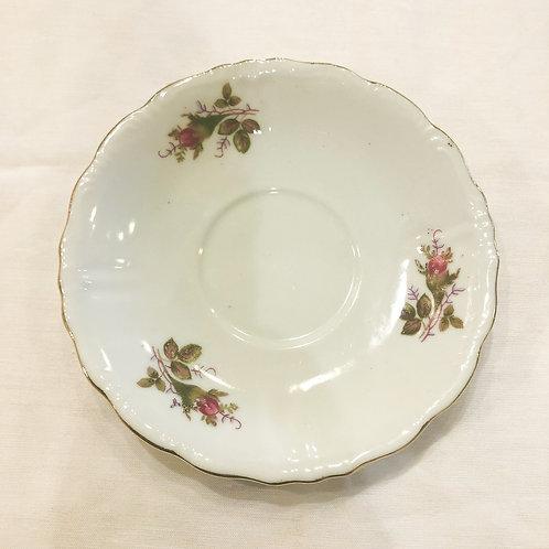 Vintage Floral Saucer