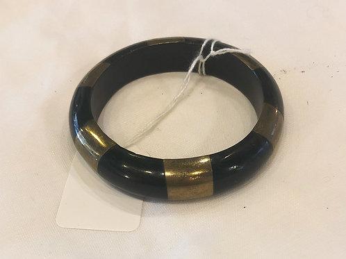 Vintage Black and Gold Striped Bracelet