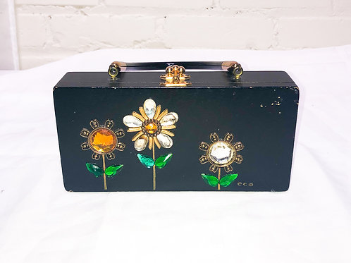 Enid Collins Box Bag with Mirror