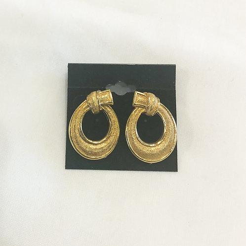 Vintage Gold Loop Earrings