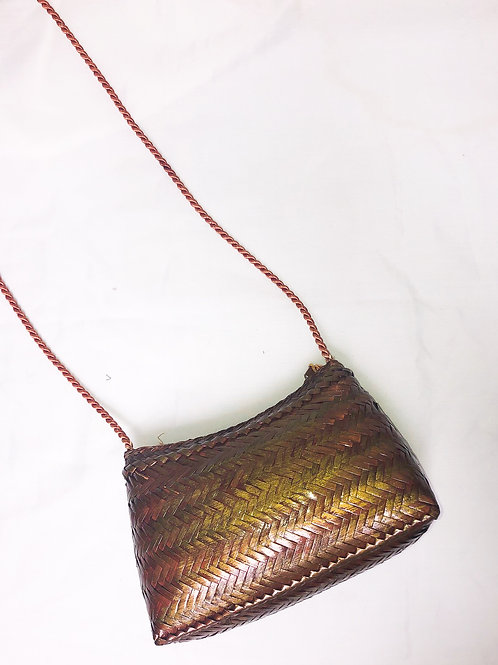 Vintage Woven Bag with Tassel