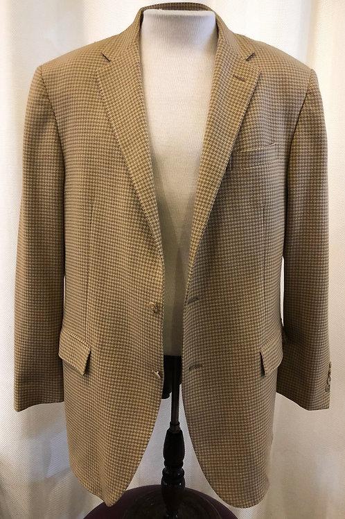 Vintage Tan Houndstooth Ralph Lauren Polo Blazer