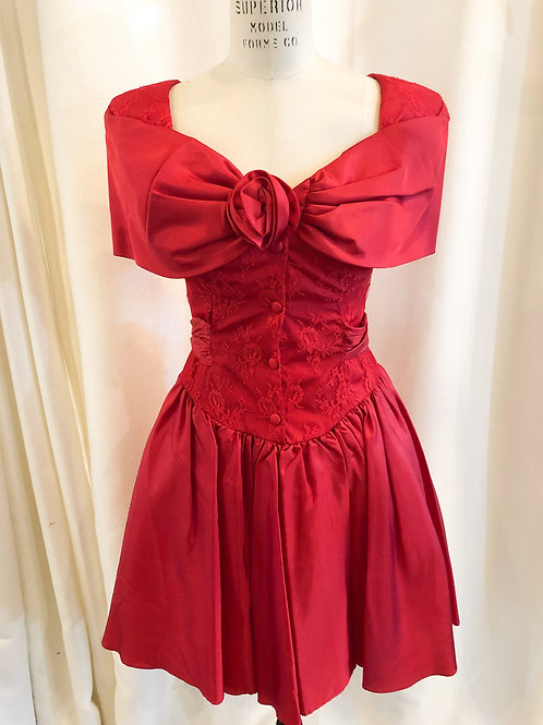 Vintage Red Lace Steppin' Out Dress