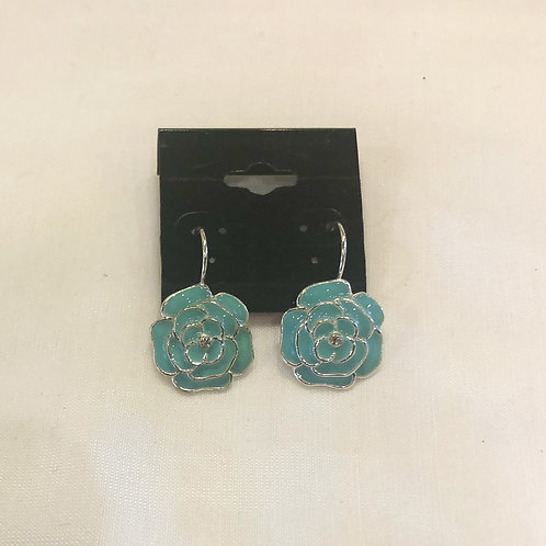 Vintage Blue Flower Earrings