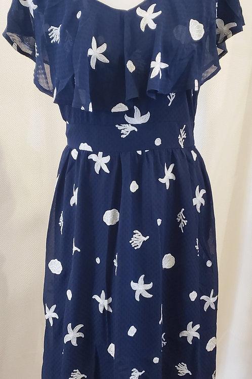 Vintage-Inspired Ocean Dress