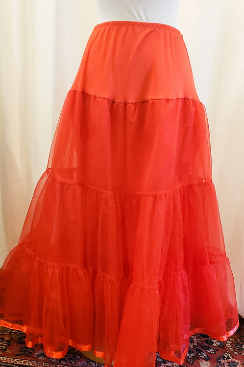 Vintage-Inspired Red Petticoat