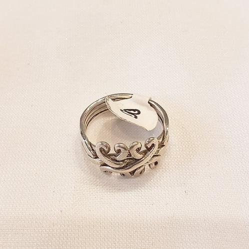 Vintage Sterling Silver Swirl Ring