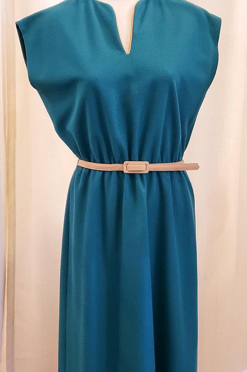 Vintage Leslie Fay Teal Dress