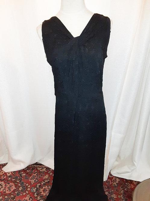 Vintage 1930s Black Handmade Dress