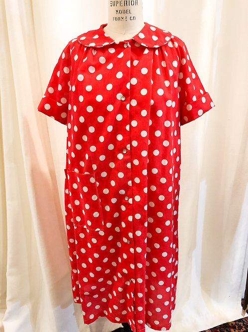 Vintage Red Polka Dot Heiress Robe
