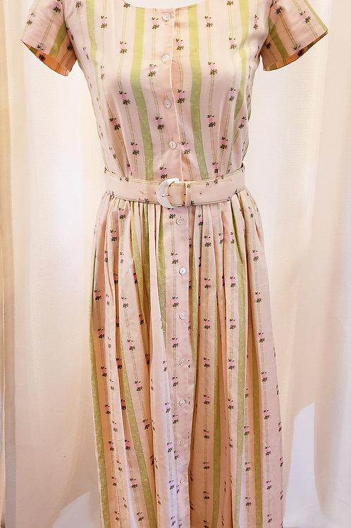 Vintage Pink Floral Liz Claiborne Dress