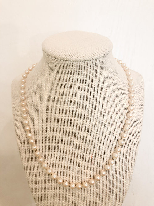 Vintage Simple Pearl Necklace