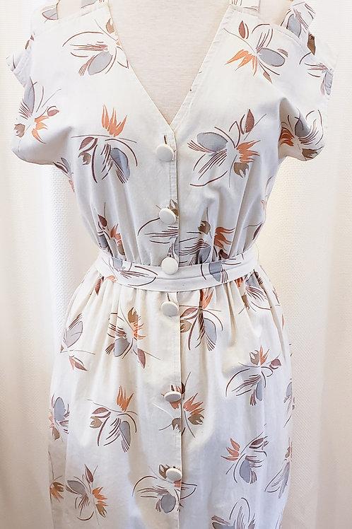 Vintage Handmade Nature-Print Dress