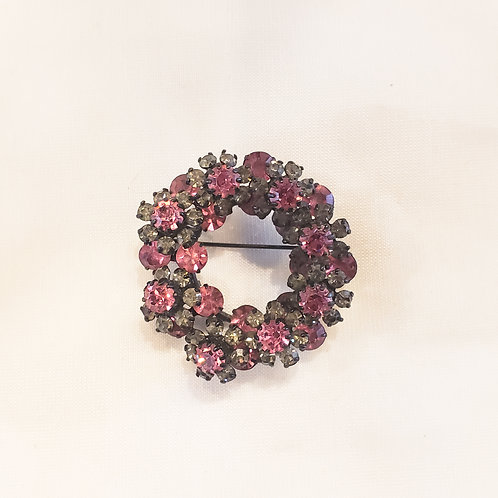 Vintage Purple Wreath Brooch