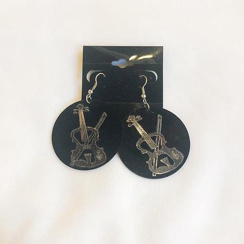 Vintage Violin Earrings