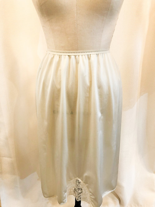 Vintage White Slip with Front Lace Detail