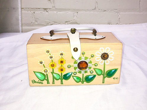 Enid Collins Original Box Bag with Posies
