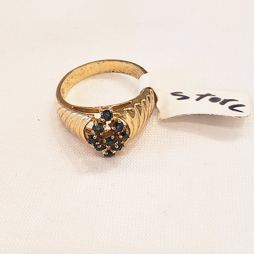 Vintage Gold and Blue Ring