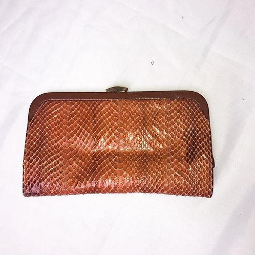 Vintage Shirl Miller Snakeskin Clutch