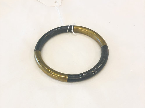 Vintage Black and Gold Thin Bracelet