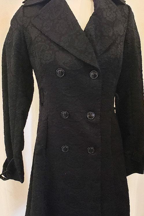 Vintage-Inspired Black Lace Coat