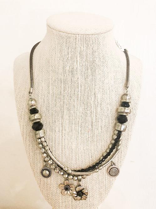 Vintage Floral Charm Necklace