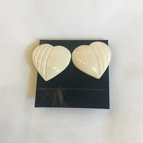 Vintage Heart Clip-On Earrings