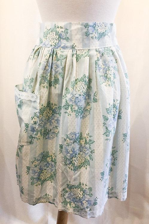 Vintage Blue Floral Apron