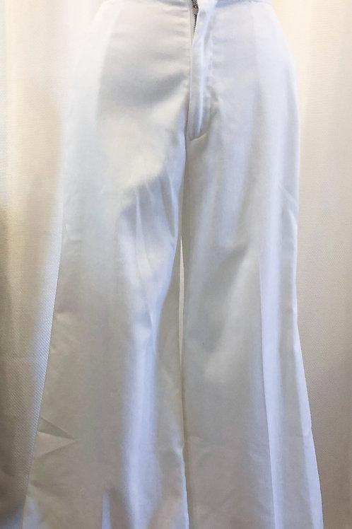 Vintage White Wide-Leg Pants