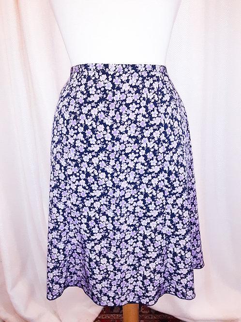 Vintage Purple Floral Norton McNaughton Skirt