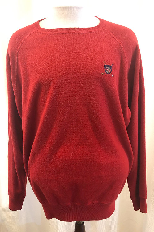 Vintage Red Ralph Lauren Polo Sweater