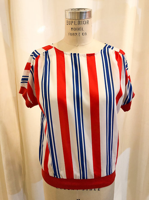 Vintage Striped Lady Arrow Top