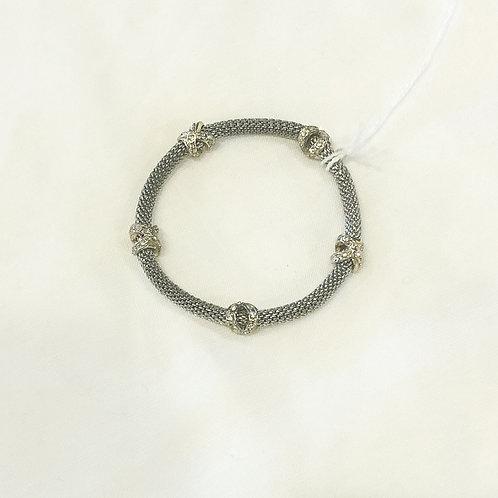 Vintage Stretchy Silver Bracelet