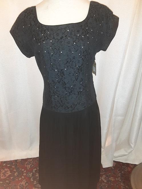 Vintage Black Jeanne Durrell Dress