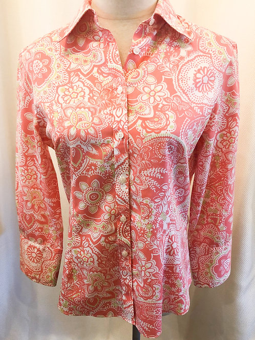 Vintage Pink Paisley Brooks Brothers Button Up