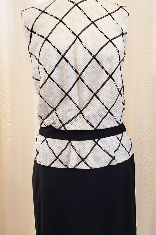 Vintage Black and White Miss Elliette Dress